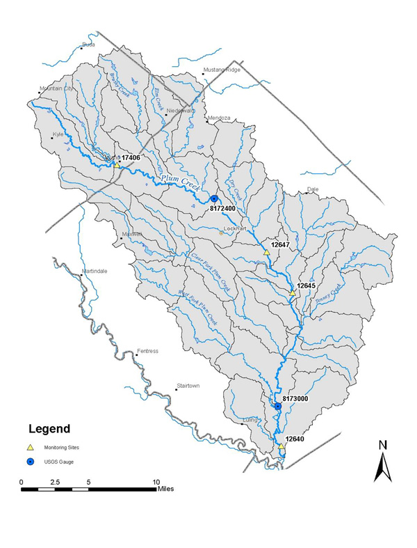 Water Quality Monitoring Stations and USGS Gages